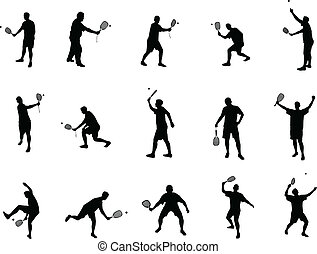 racket ball silhouettes