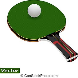 racket for table tennis photo-realistic