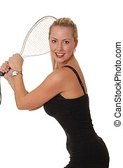 Racket Girl 7 - Sexy young blond girl with racket ball...