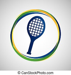 racket tennis sport badge icon