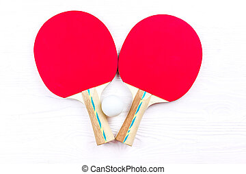 Rackets for table tennis