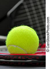 racquet, tennisball