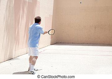 racquetball, giocatore