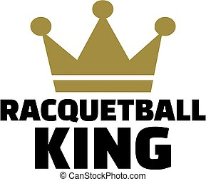 Racquetball king with crown