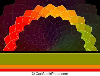 rad, beschwingt, abstrakt, hintergrund., farben, vektor, banner