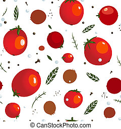 Rad Canned Spicy Tomato Seamless Pattern - Vector EPS8...