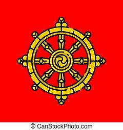 rad, dharma, symbol