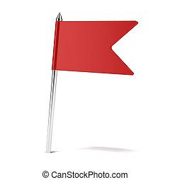 rad, drapeau, épingle