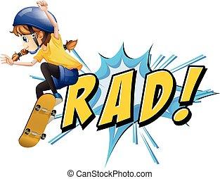 rad, flash