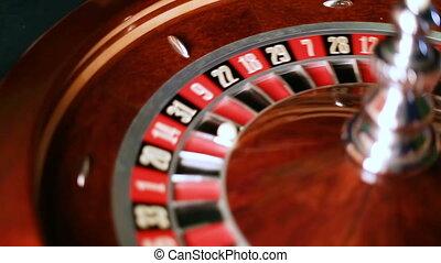rad, nahaufnahme, motion., roulett, kasino, zahlen
