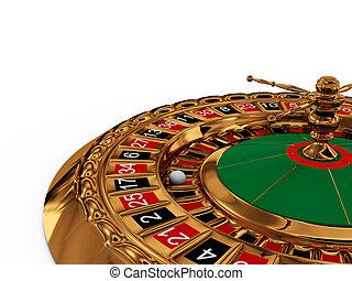 rad, roulett, weißes, kasino, hintergrund