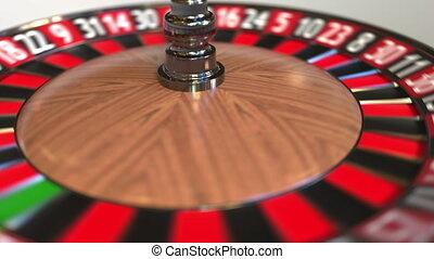 rad, zwölf, schlägt, 12, roulett, kasino, kugel, animation,...
