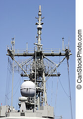 Radar and Comms - Warships radar and comms tower