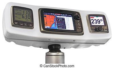 Radar and GPS navigation for ships and yachts