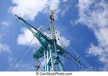 Radar and on military ship