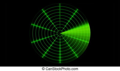 Radar animation. Seamless loop.