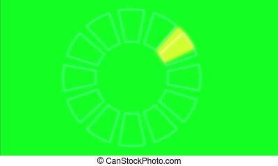 radar, animation, vert, écran