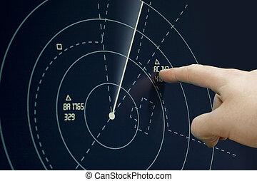 radar, avião