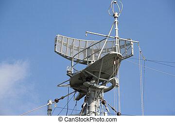 radar, bateau, naval