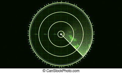 Radar Blip Screen, Analog (60fps) - Loop of a radar screen...