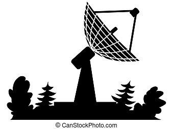 radar - illustration of the radar in black color
