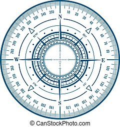 Radar compass rose
