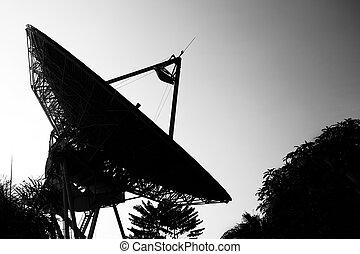 Radar dish with B&W
