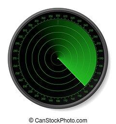 Radar - Vector illustration. Insert your map.
