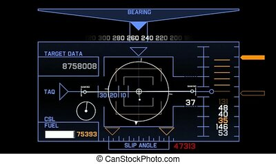 Radar GPS navigation screen display