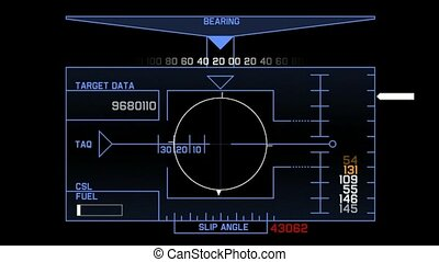radar GPS navigation screen display
