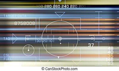Radar GPS navigation screen display,computer game interface,hi-tech software pa