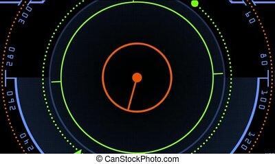 Radar GPS screen display, computer