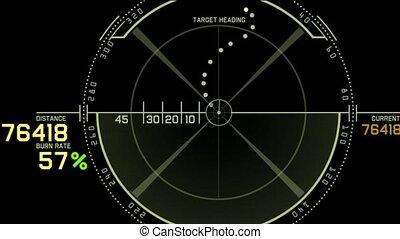 radar, gra, komputer, gps, interfejs