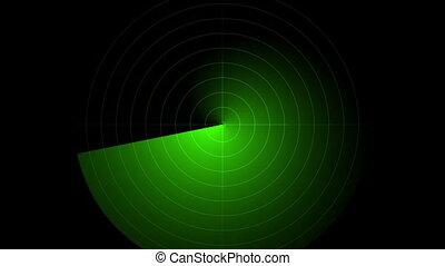 radar green screen display animated