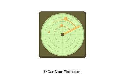 Radar icon animation best object on white background