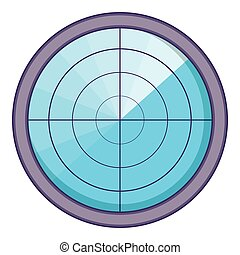 Radar icon, cartoon style