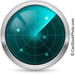 Radar icon. Illustration white background for design