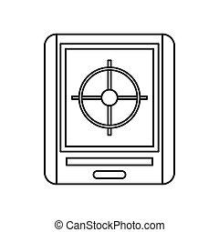 Radar icon, outline style