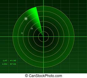 Radar image - Illustration of a radar image spotting 3...