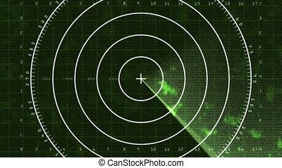 radar, lichten beeldscherm door, 03, (25fps)