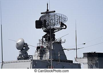 Radar of military ship - Radar of modern military ship
