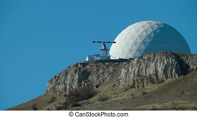 radar on a mountain top