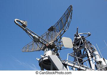 Radar on military ship