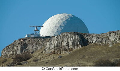 radar on  mountain top Ai-Petri