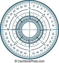 radar, rose compas