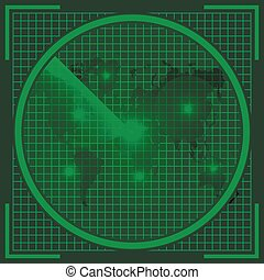 radar screen alien map