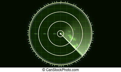 Radar Screen Display 02 (24fps) - Loop of a radar screen...
