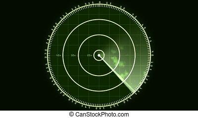 Radar Screen Display 02 (25fps) - Loop of a radar screen...