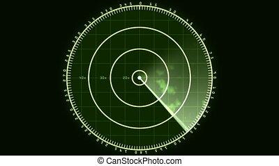Radar Screen Display 02 (30fps) - Loop of a radar screen...