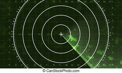 Radar Screen Display 03 (25fps) - Loop of a radar screen ...